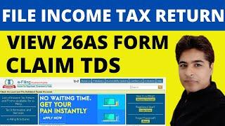 Income tax return eFILING - How to file ITR   TDS   26AS   हिंदी में. A.Y-2021-22