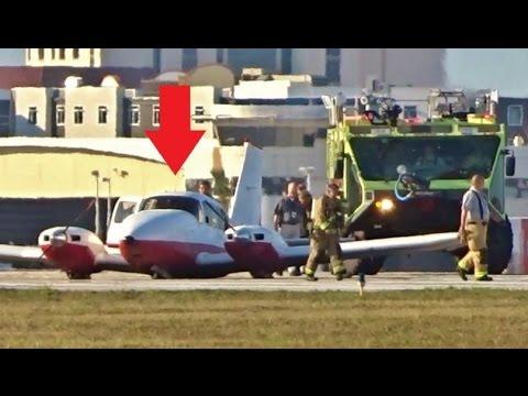EMERGENCY GEAR UP LANDING with ATC - Daytona Beach Int'l (Piper Aztec)