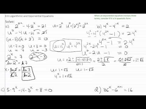 Solving Exponential & Log Equations p6