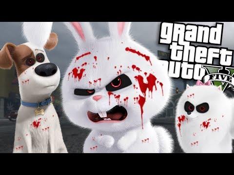 The EVIL Secret Life of Pets MOD (GTA 5 PC Mods Gameplay)