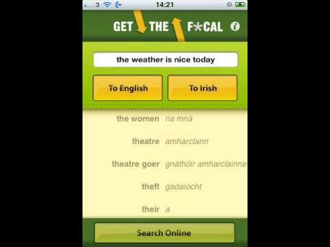 Video of Get the Focal Irish Translator