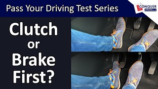 Clutch or Brake First when stopping or slowing down in a manual car?