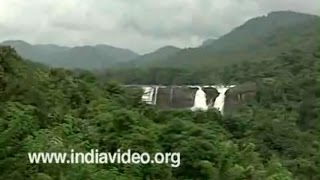 The cascading waters of Athirappally Waterfalls