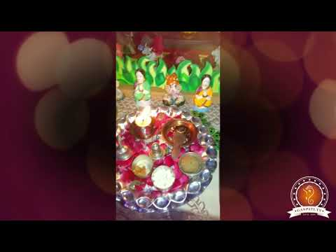 Sandip Shirole Home Ganpati Decoration Video