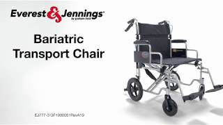 Everest & Jennings Bariatric Transport Chair Youtube Video Link