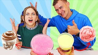 TURN THIS SLIME INTO THIS SLIME CHALLENGE! DAD vs DAUGHTER | JKrew