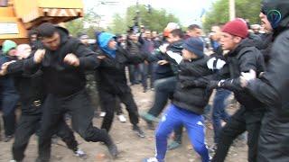 Массовая драка в Киеве из-за незаконной застройки