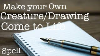 Make your Drawing come to life   Create your own Creature