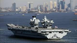 HMS Queen Elizabeth sails into New York (USA) - ITV News - 19th October 2018