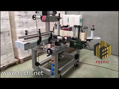 Etiquetadora Automática Envases Cilíndricos y Garrafas (Aplicador Automático de Etiquetas) - Tecfil