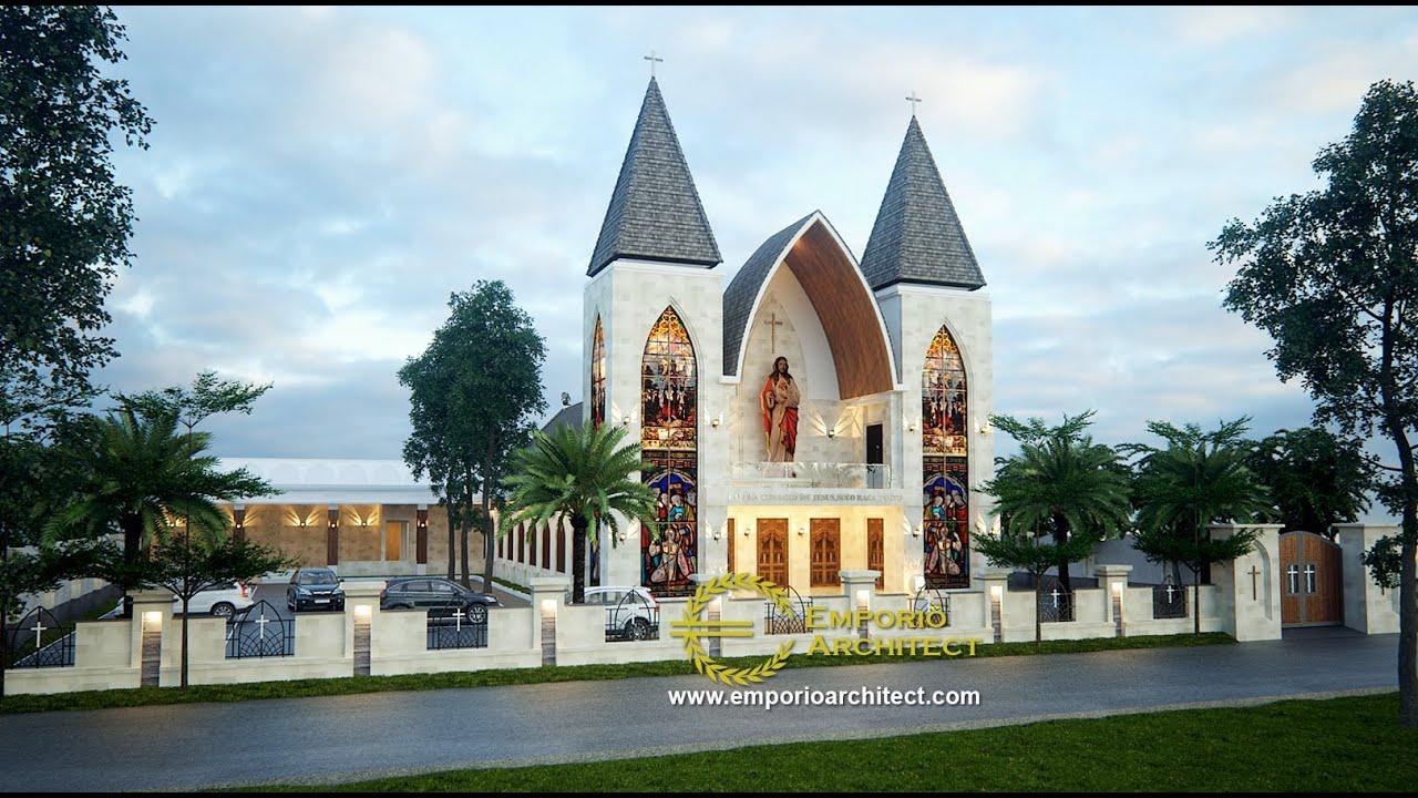 Video 3D Desain Gereja Modern 1 Lantai Capela Curacao De Jesus di Timor Leste