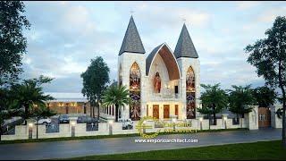 Video Desain Gereja Modern 1 Lantai Capela Curacao De Jesus di  Timor Leste