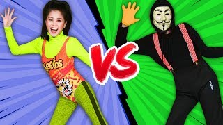 VY QWAINT vs. HACKER DANCE BATTLE ROYALE In Real Life Challenge! Vyrobics Fitness Competition!