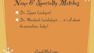 Medical Humor Lists - Funny Doctors Names