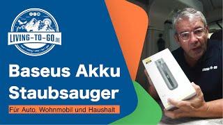 Baseus Akku Staubsauger für Auto, Wohnmobil und 'Haushalt