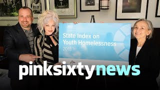 CYNDI LAUPER LAUNCHES HOMELESS YOUTH INDEX