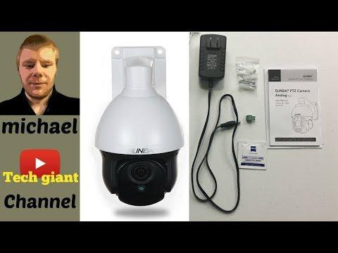 SUNBA 960H Mini Analog PTZ Camera, 98ft Night Vision 3X Optical Zoom