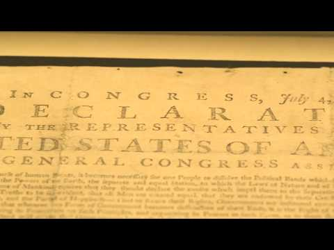 Declaration of Independence Southwick Broadside Install and Ribbon Cutting