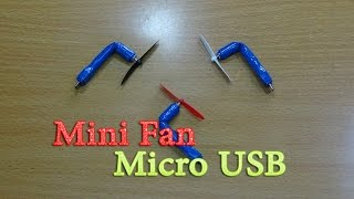 How to make mini powerful Micro USB Fan for mobile, smartphone