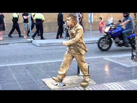 Awesome Walking Statue Street Comedian Funny As Hell