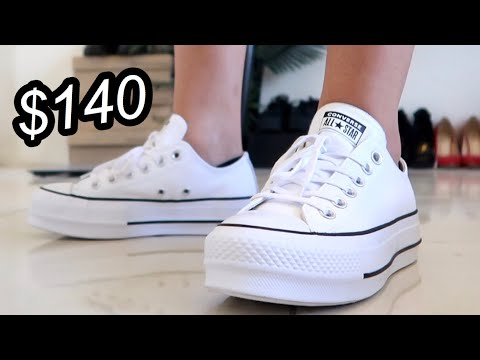 Converse Ox Leather Platform Shoe Review (Optical White)