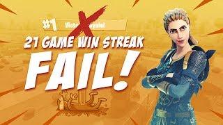 21 Game Win Streak Fail!?   Fortnite Battle Royale Highlights   Ninja