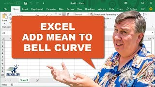 Learn Excel - Add Mean to Bell Curve - Podcast #1825