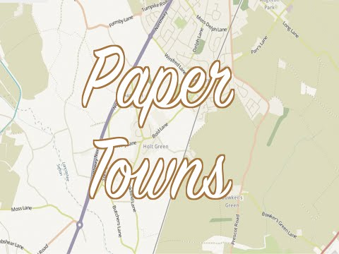 TWL #3: Paper Towns- Fake Places Made to Catch Copyright Thieves