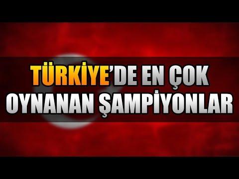 TÜRKİYE'DE EN ÇOK OYNANAN 5 ŞAMPİYON   LoL