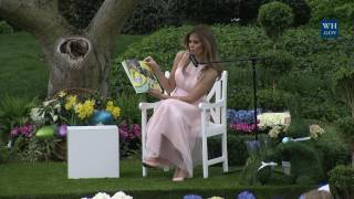 White House Easter Egg Roll: Reading Nook with First Lady