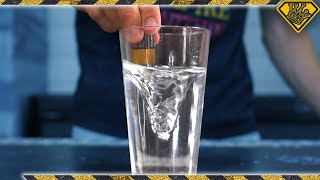 Creating a Vortex With Water and a 9V Battery