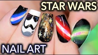 Star Wars nail art: May the freehand be with you