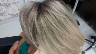 Мелирование по технике балаяж на короткий волос