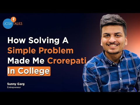 , title : 'How To Start A Business In College With No Money? | Sunny Garg | Josh Talks