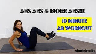 TEN MINUTE AB WORKOUT! GET A STRONG, FLAT BELLY!
