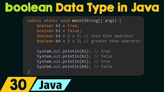 The boolean Data Type in Java