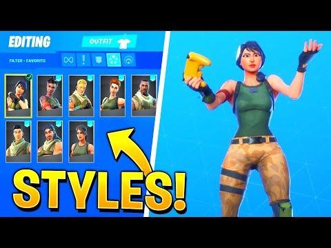 *NEW* Leaked Default Skin Selectable Styles in Fortnite..!!
