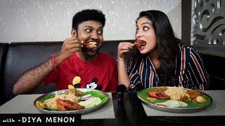 Sun TV Anchor Diya Menon and Thenu at Sangam Multi cuisine restaurant | Celebrity Review