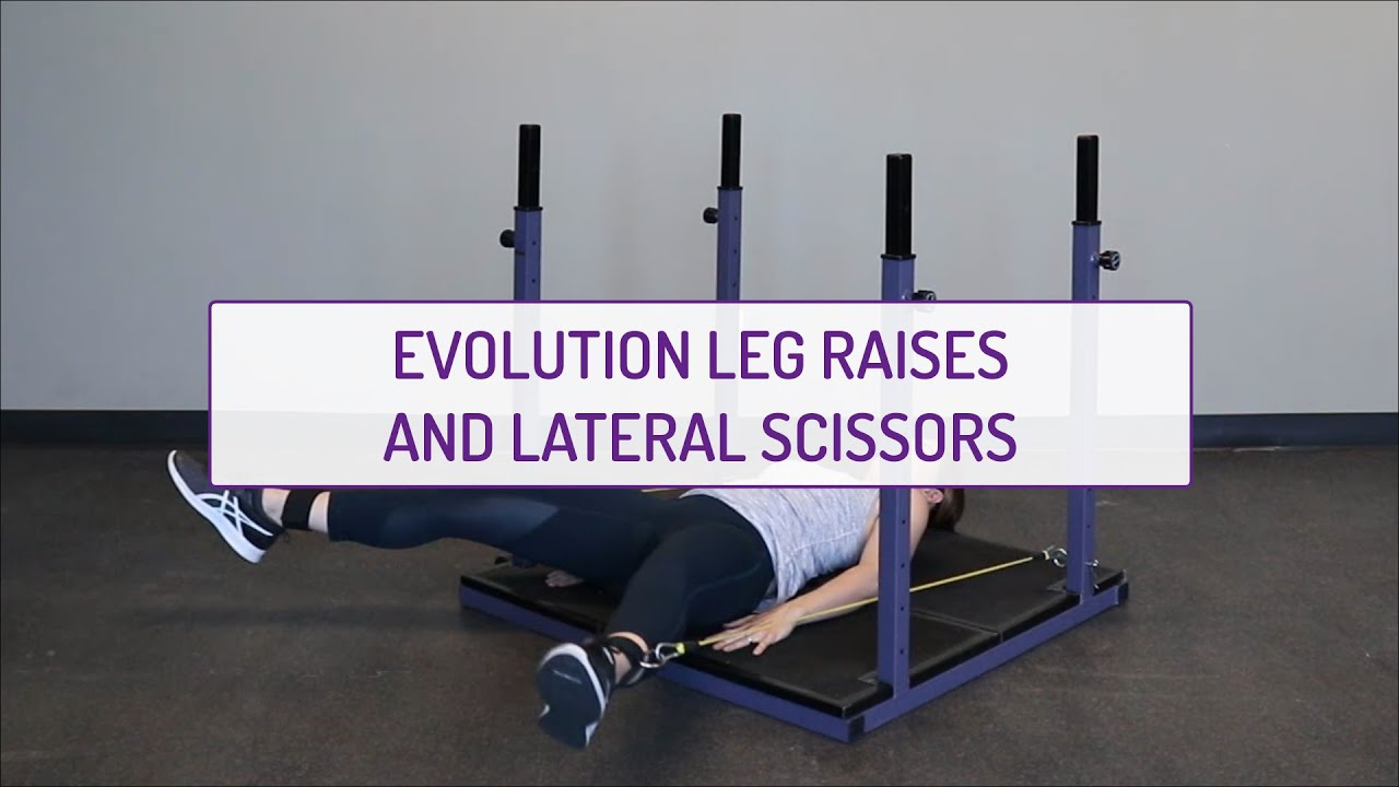 Evolution Laying Leg Raises and Lateral Scissors