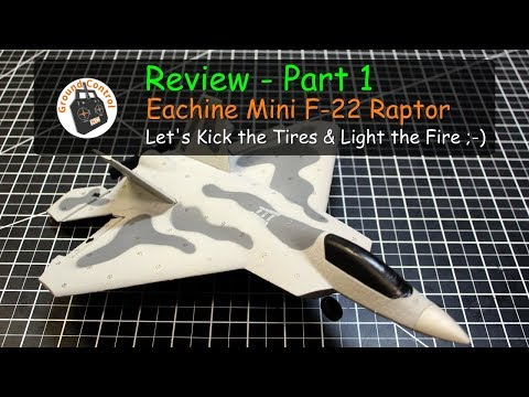 Review Part 1 - Eachine Mini F-22 from Banggood
