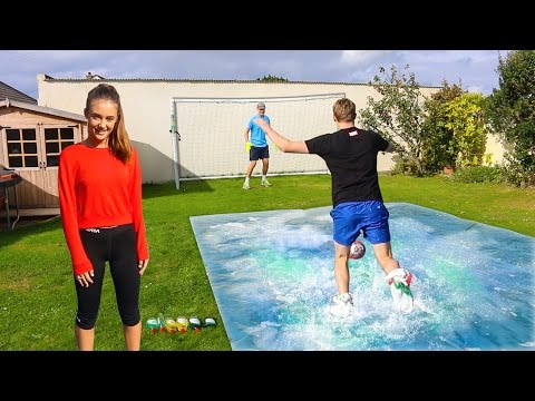 SLIP 'N' SLIDE FOOTBALL vs MY SISTER