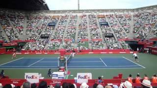 楽天ジャパンオープン2016チリッチ準々決勝マッチポイント
