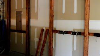 DIY Inexpensive Cantilever Garage Storage System