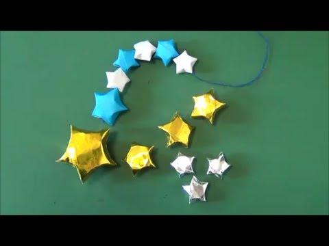 """七夕・クリスマスに。「星のこんぺいとう」折り紙""""Star like candy"""" origami"""
