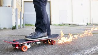 This skateboard is         lit