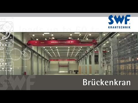 Brückenkran mit 60 Tonnen Tragkraft / Overhead crane for loads up to 60 tons