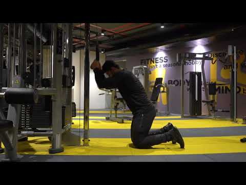 Cable Kneeling Twisting Crunch