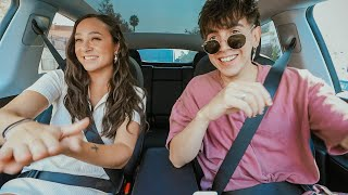 SELF-DRIVING TESLA CAR RIDES with FRANNY!!