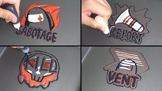 Among us Pancake Art 5 - Vent, Sabotage, Report, Kill