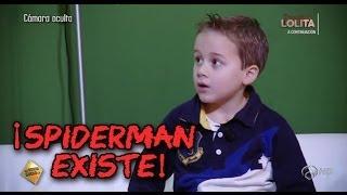 Cámara oculta de niños en El Hormiguero - Jandro, el hombre araña